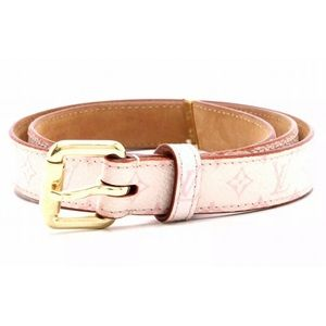 Authentic Louis Vuitton Pink Cherry Blossom Belt